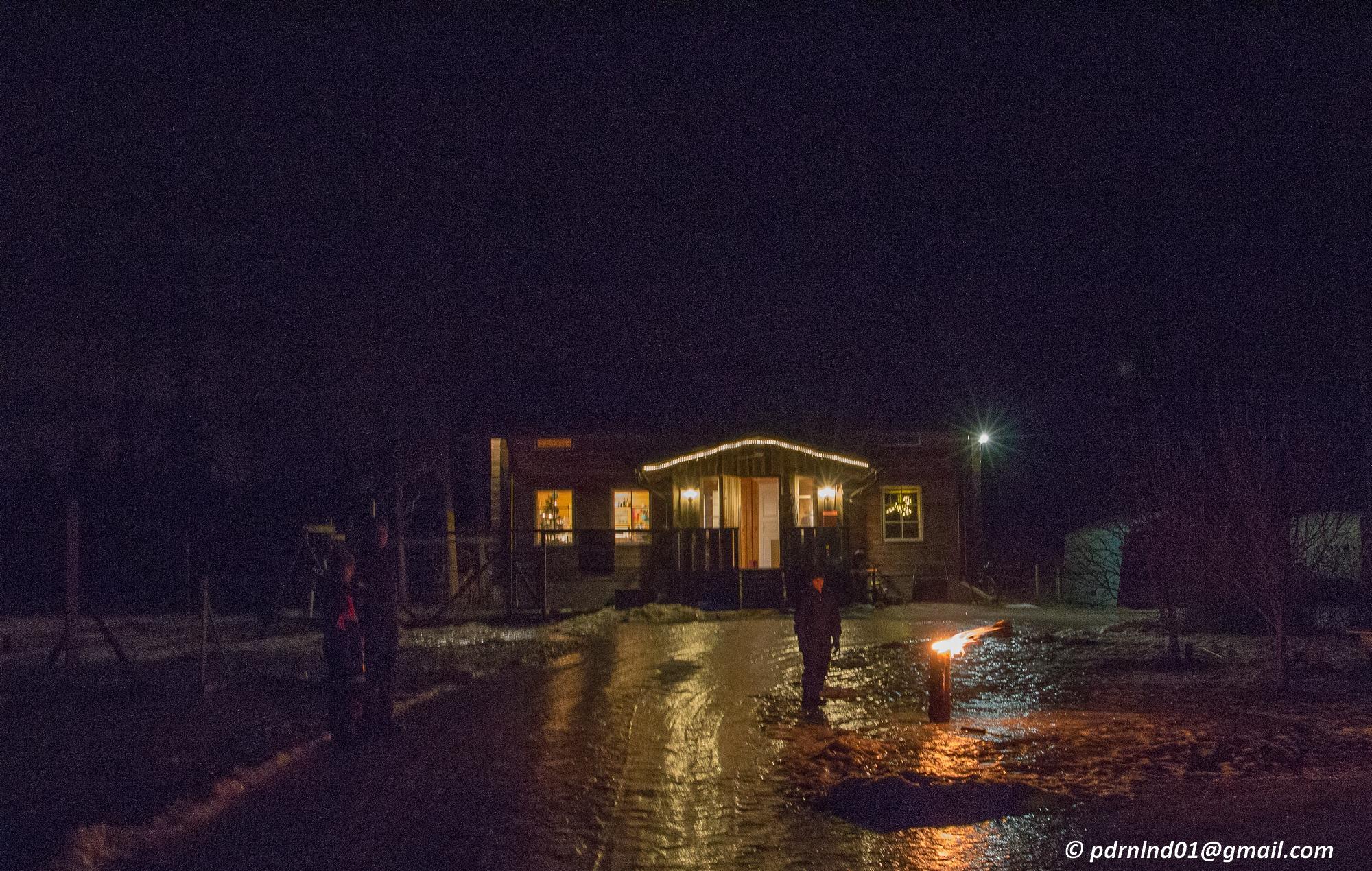 Nyårsrakete på Öj-jäälon