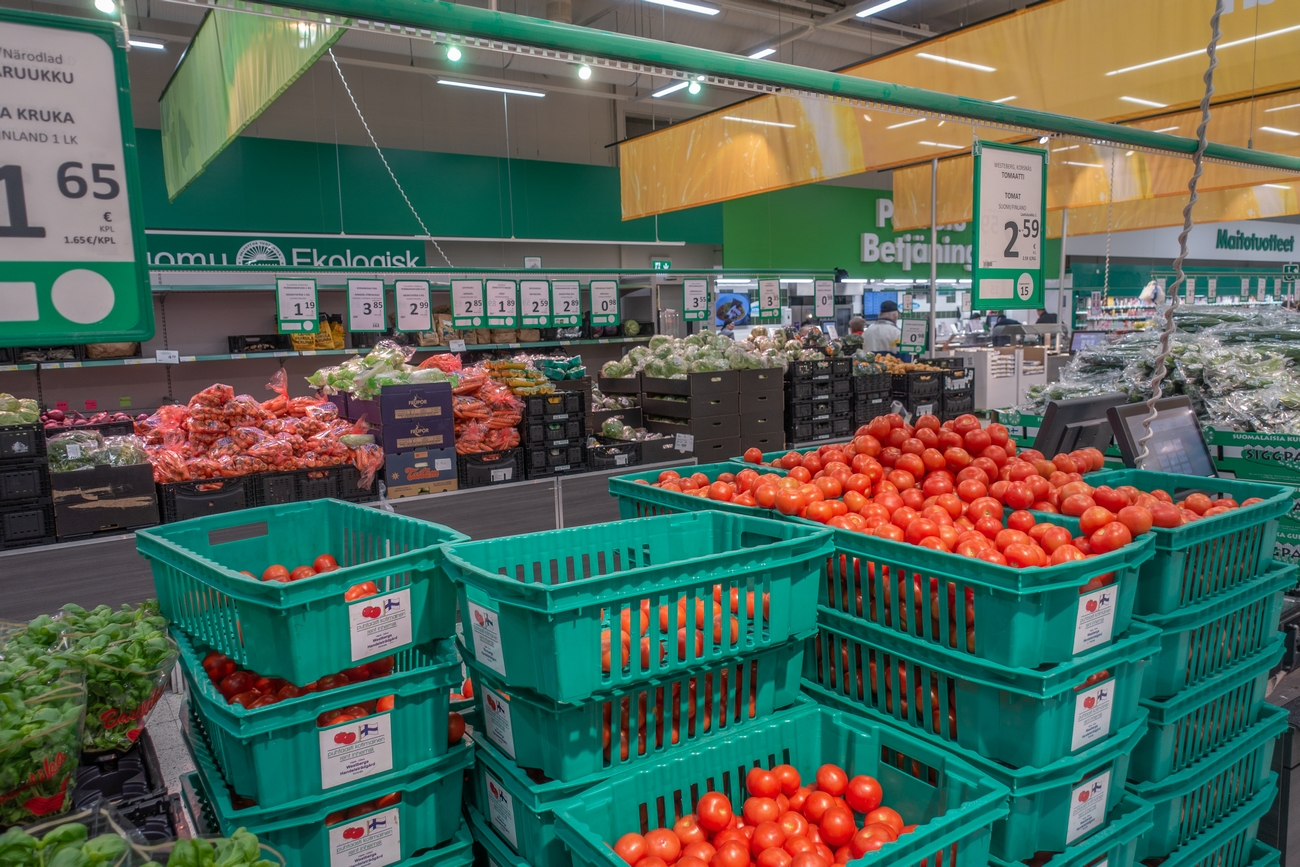 Tomater på Prisma i Vasa
