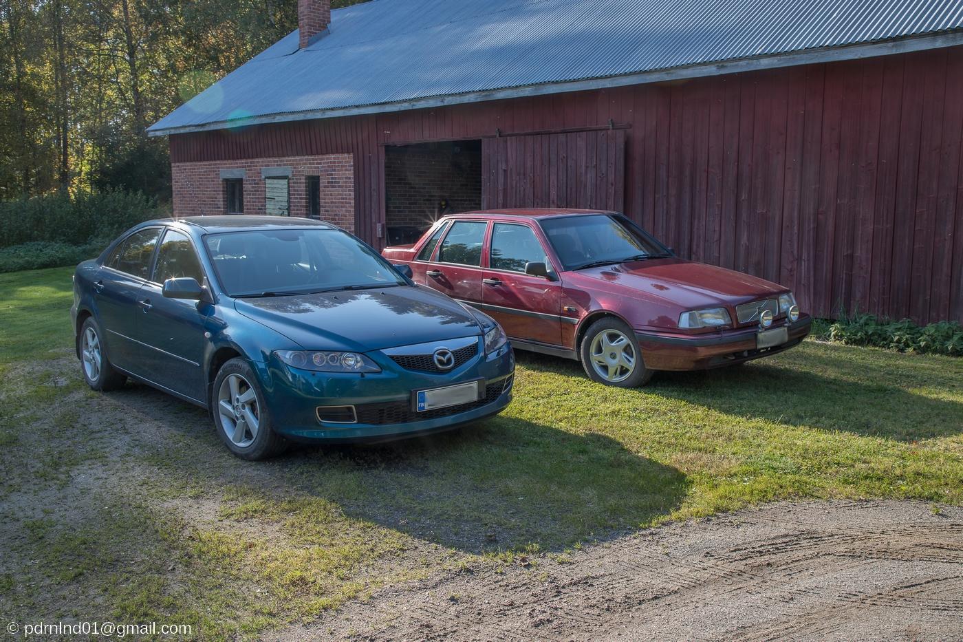 Mazda 6 och Volvo 460